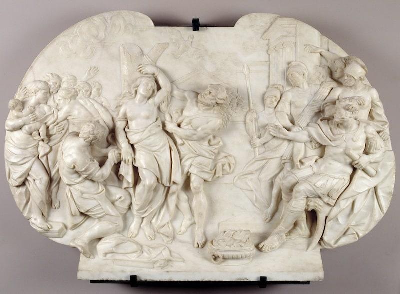 Santra Eulalia de Mérida condenada a muerte por los romanos
